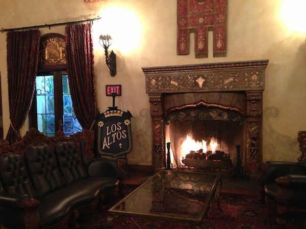 Los Altos apartments lobby fireplace
