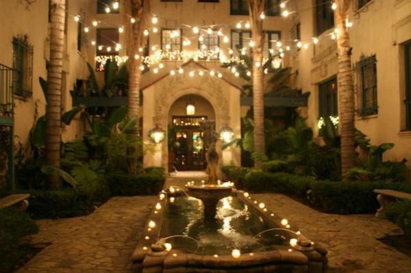 Los Altos courtyard lights