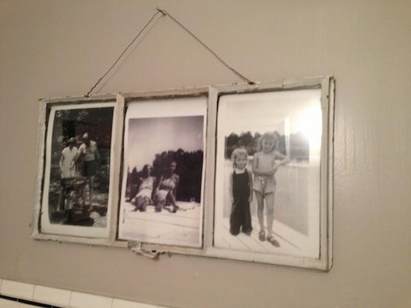 flea market window as picture frame