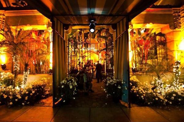 party at Los Altos courtyard
