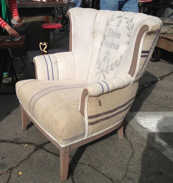 Vintage ReCreation LA chair at Rose Bowl Flea Market