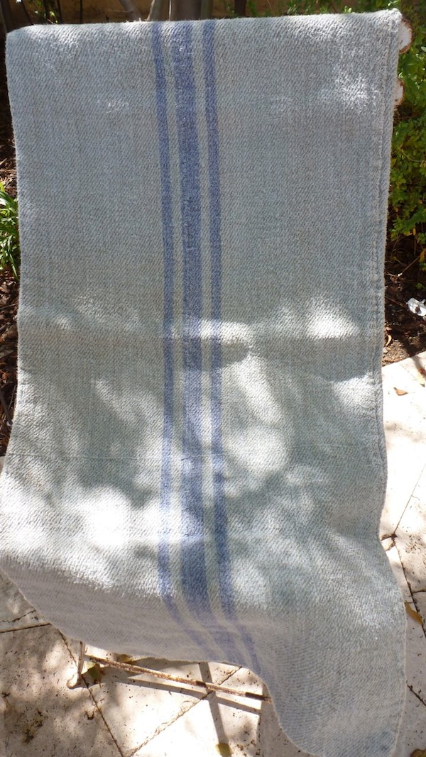 Solution dyed grain sack pillow cover