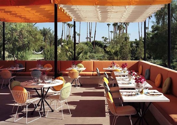 Parker Hotel Palm Springs Outdoor dining