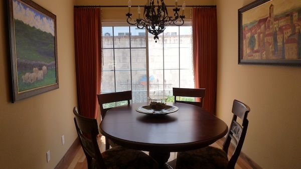 small but stylish dining room