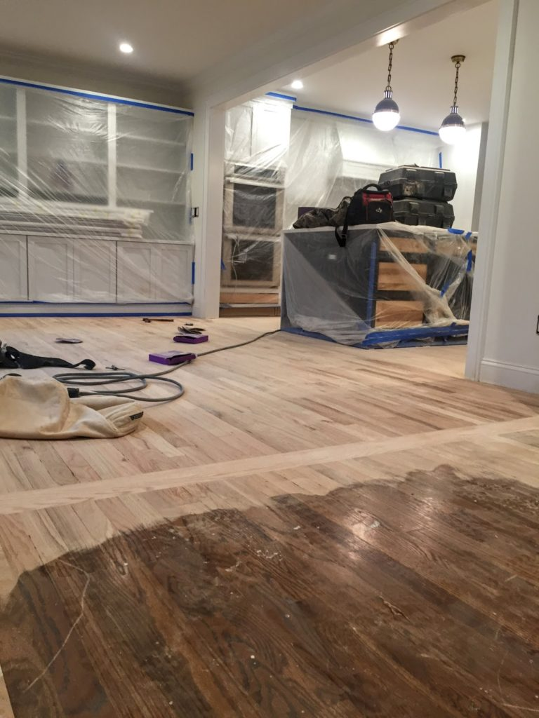 refinishing floors and choosing stain color