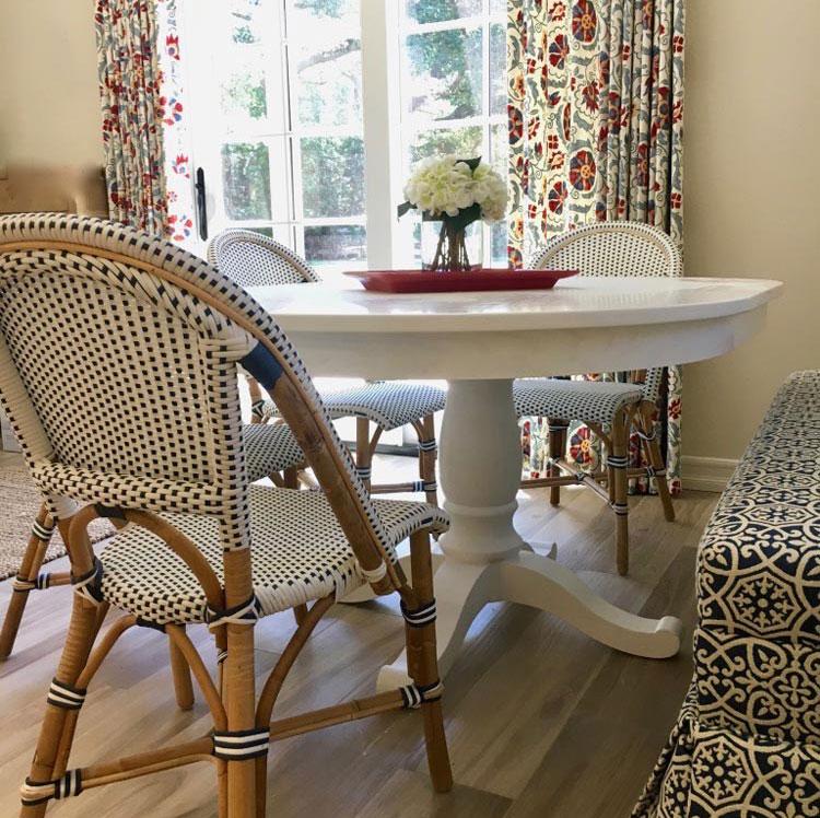 custom drapery in Weston Connecticut home