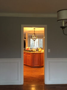 Closed Off Kitchen in Weston CT Colonial