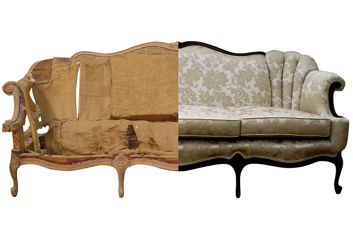 Reupholstering Old Vs Ing New Couch Wilton Ct